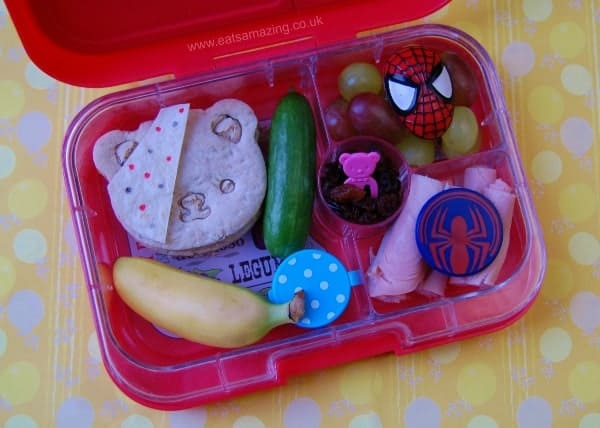 Pudsey Superhero themed bento lunch for Children in Need Day from Eats Amazing UK