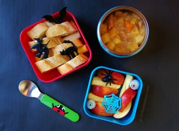 Simple cupcake rings and picks can turn leftovers into a fun Halloween themed lunch - Eats Amazing UK