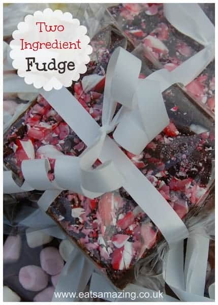 2 Ingredient 5 minute quick and easy fudge recipe - 1 recipe - endless flavour combinations