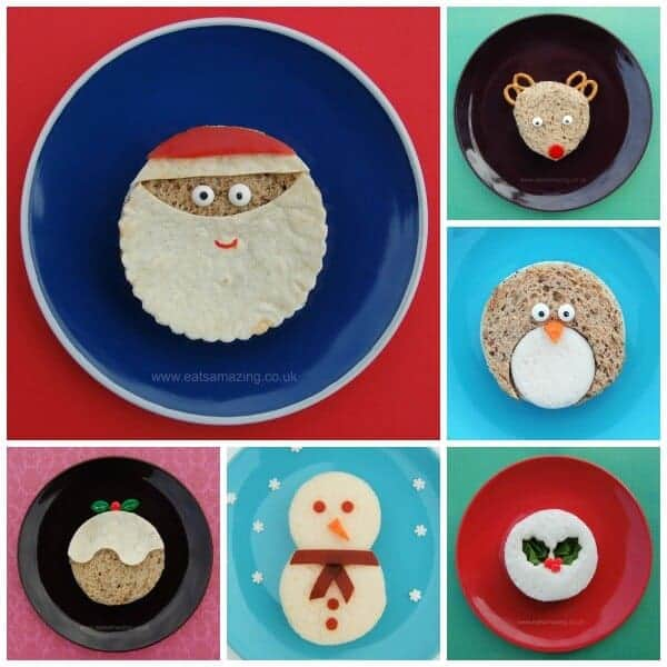 6 Fun Christmas Sandwiches for Kids - Healthy Fun Christmas party food Ideas from Eats Amazing UK