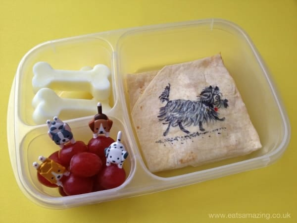 Book Themed Kids Bento School Lunch to celebrate World Book Day based on Hairy Maclary from Eats Amazing UK