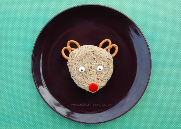 Eats Amazing UK - 6 fun kids sandwich ideas for Christmas snacks and lunches