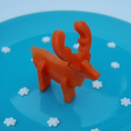 Eats Amazing UK - Carrot Reindeer made using a simple 3D vegetable cutter - so cool for Christmas Salads and fun kids food