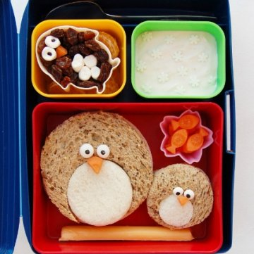 Eats Amazing UK - Fun Penguin Themed Winter Kids Bento School Lunch Idea - cute for Christmas