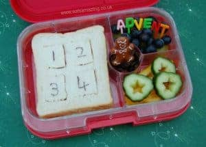 Advent Calendar Sandwich and Lunch