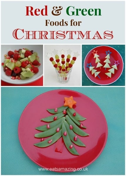 Eats Amazing UK - Red and Green Foods for Christmas - would make a fun theme for Christmas party food