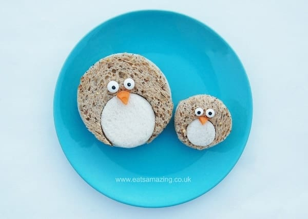 Eats Amazing UK - Simple Penguin Sandwiches - these would be so cute for a Christmas party