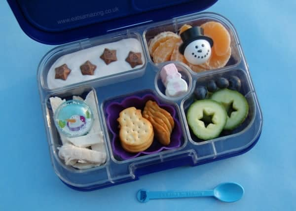 Eats Amazing UK - Simple winter lunch idea packed in the Yumbox - bits and pieces are so easy to pack and look pretty