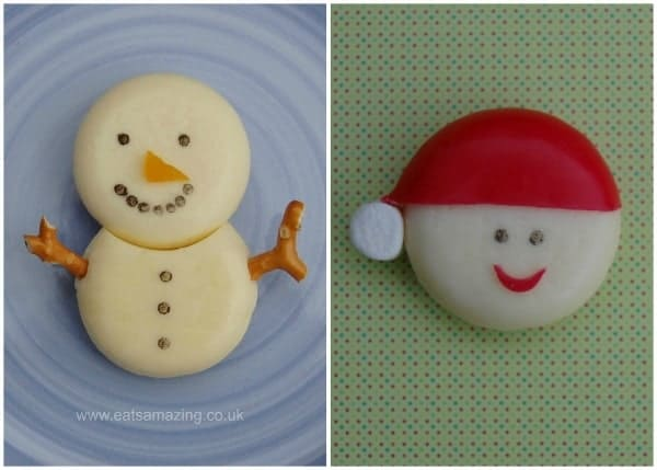 Fun and easy healthy Christmas food - creative Babybel cheese ideas for the kids from Eats Amazing UK