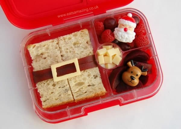 Simple Santa Sandwich - fun and healthy Christmas lunch idea for kids - Eats Amazing UK