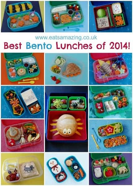The 14 best creative bento lunches of 2014 from Eats Amazing UK - So many fun ideas for making healthy food fun for kids