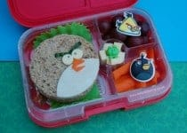 Angry Birds Sandwich and Themed Bento Lunch from Eats Amazing UK - making healthy food fun for kids