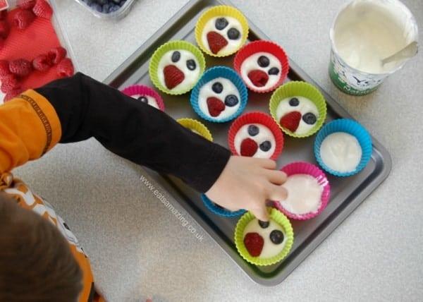 Child Friendly Recipes from Eats Amazing UK - Frozen Fruity Yoghurt Bites