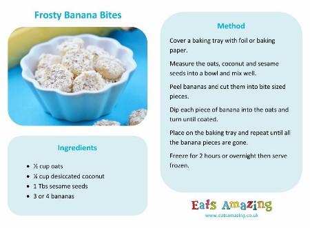 recipes for preschoolers to make easy recipes for frozen banana bites recipe 925