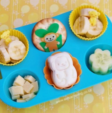 Healthy Monkey Themed Fun Muffin Tin Meal Idea for a Toddler - Eats Amazing UK