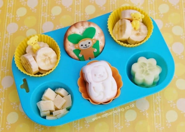 Healthy Monkey Themed Fun Muffin Tin Meal for a Toddler - Eats Amazing UK