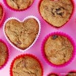 Healthy carrot and berry muffins recipe - great kids lunchbox food idea from Eats Amazing UK