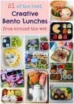 Massive round-up of creative bento lunch ideas and bloggers - So many ideas for packing fun bento lunches here!