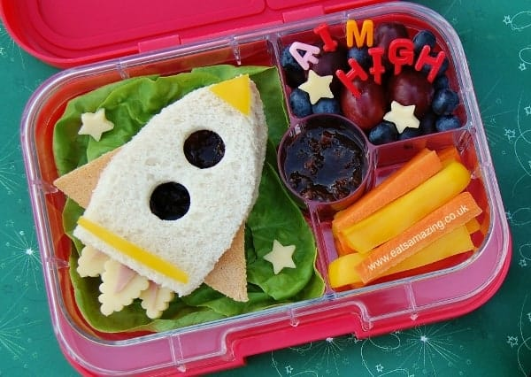 Rocket Sandwich Bento School Lunch Idea from Eats Amazing UK