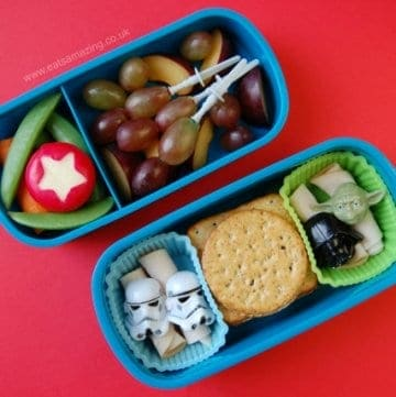 Simple Kids Bento Packed Lunch with a Star Wars Theme from Eats Amazing UK