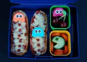 Simple Pacman Themed Kids Bento Lunch - Retro Fun from Eats Amazing UK