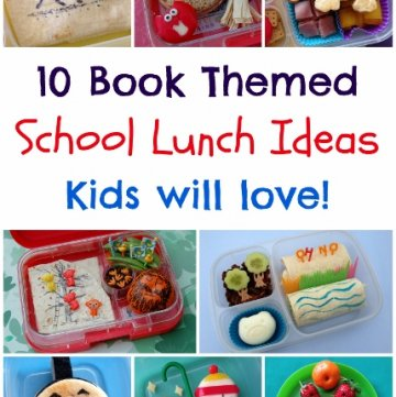 Book Themed Food - 10 Book Bento Lunch Ideas for Kids from Eats Amazing UK - Perfect for World Book Day