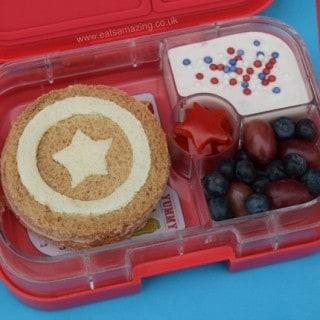 Captain America Bento Lunch & #FunFoodFriday