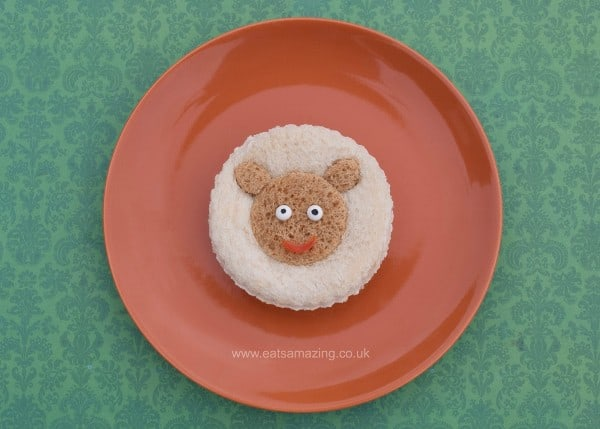Easy sheep sandwich - cute healthy and fun food for kids from Eats Amazing UK