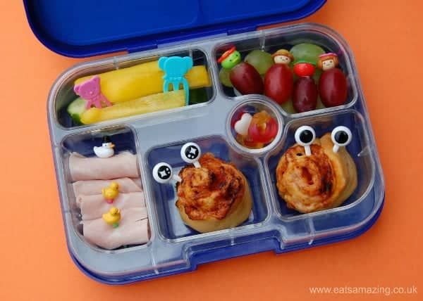 Eats Amazing UK - Pizza rolls fun bento lunch idea for kids