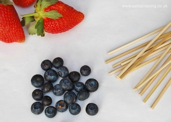 Eats Amazing UK - healthy fruit skewers recipe for kids - so yummy!