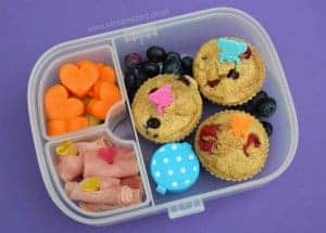 Fun Kids Bento Lunch for Pancake Day - Healthy Pancake Muffins School Lunch from Eats Amazing UK