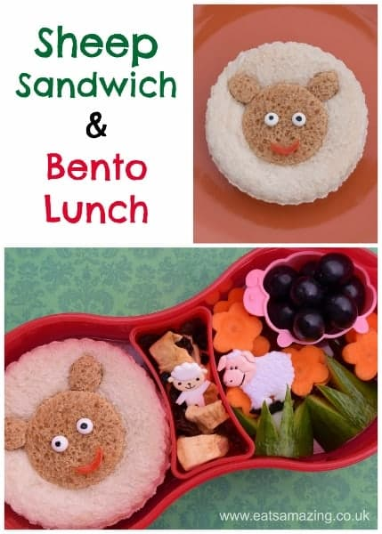 Fun Kids Food - Sheep sandwich and themed bento lunch from Eats Amazing UK