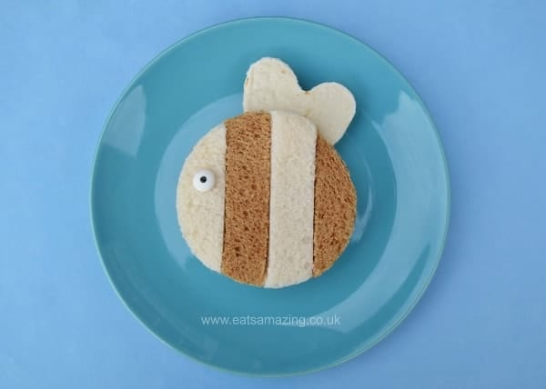 Healthy Fun food for kids - Simple bee sandwich from Eats Amazing UK