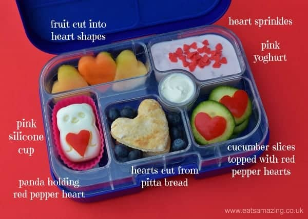 How to pack a healthy Valentines themed bento lunch for kids - Eats Amazing UK
