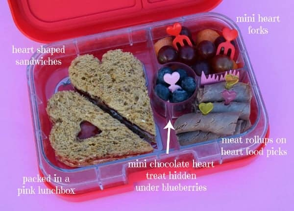 Ideas for packing a healthy Valentines themed bento lunch for kids - Eats Amazing UK