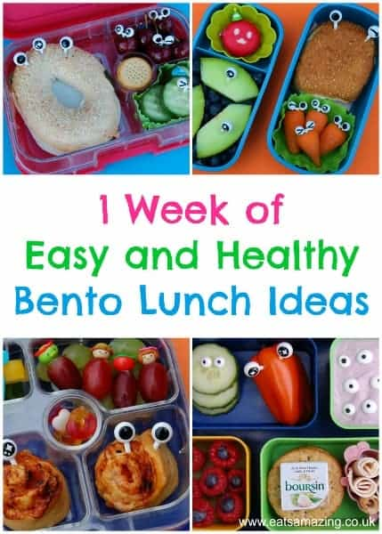 One whole week of fun easy and healthy bento lunch ideas for kids from Eats Amazing UK