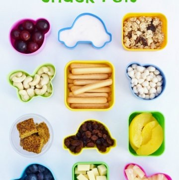 Quick and Easy healthy breakfast snack pots - some great healthy breakfast ideas for kids here!