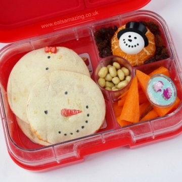 Snowman Quesadillas - Fun School Lunch food idea from Eats Amazing UK