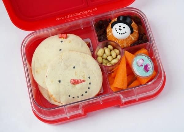 Snowman Quesadillas - Fun School Lunch food idea from Eats Amazing UK