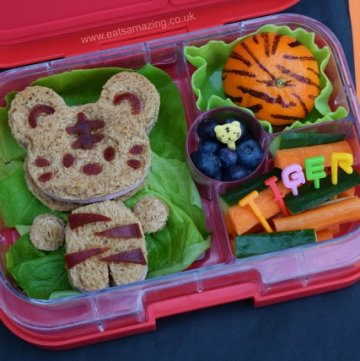 Tiger themed fun kids bento box idea from Eats Amazing UK
