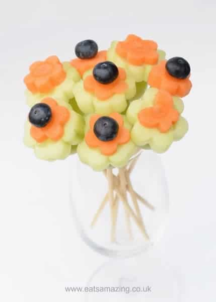 Easy Vegetable Bouquet - Healthy and fun kids snack idea for springtime from Eats Amazing UK