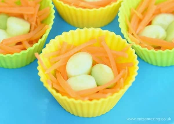 Healthy Easter Nests - a fun and healthy alternative to chocolate for kids - great after school snack idea or for lunch boxes