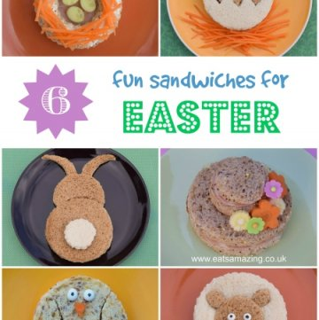 Healthy Easter food ideas for kids - 6 cute and fun kids sandwich ideas for Easter with full instructions