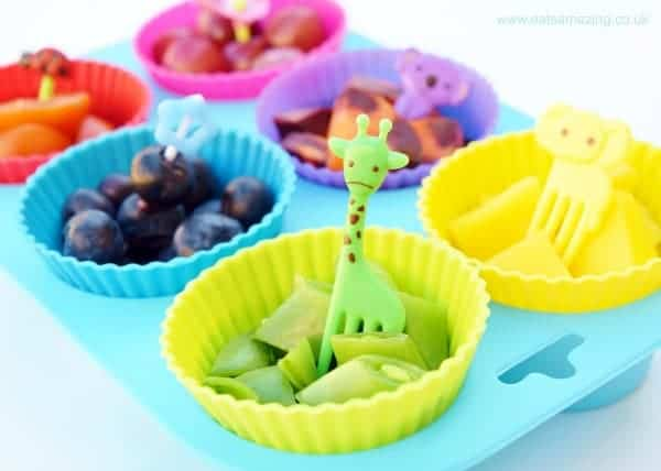 healthy vegetable and fruit snacks platter for kids
