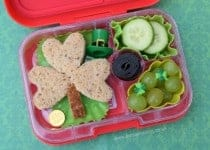 Kids Bento Lunch for St Patricks Day - from Eats Amazing UK - healthy and fun food for kids
