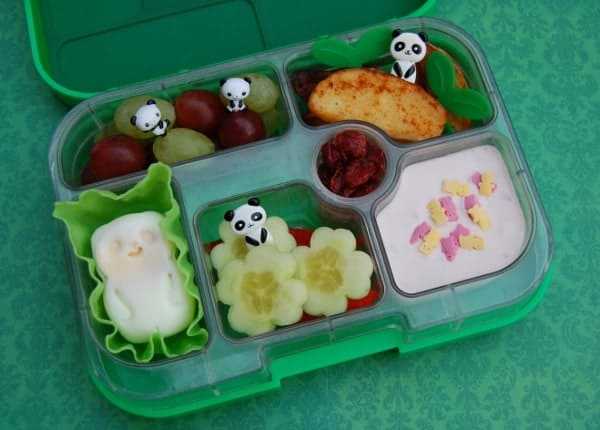 Simple Panda Bento Lunch in the Yumbox UK Bento Box from Eats Amazing UK - fun food for kids