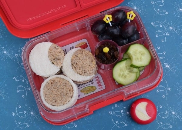 Solar Eclipse Bento - fun way for kids to learn about the solar eclipse through food - from Eats Amazing UK