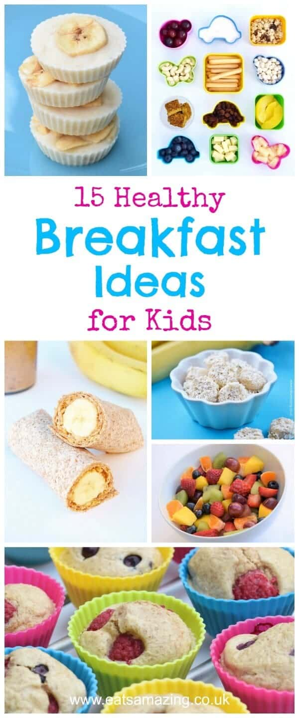 Healthy Breakfast Ideas for Kids. It's No Yolk Egg whites are a wonder food—they're high-protein, low-fat muscle builders. Stir these whites into smoothies or shakes, or just heat and eat: The lid pops up as the eggs fluff in the micro. (Eggology On-the-Go, $3 for two).