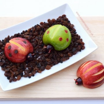 Apple Bugs - Healthy and fun food for kids from Eats Amazing UK - with full instructions and video tutorial