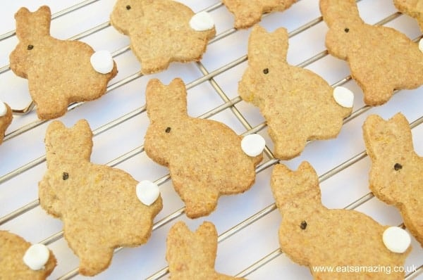 Easter Bunny Carrot Biscuits Recipe - fun project for kids to bake this Easter